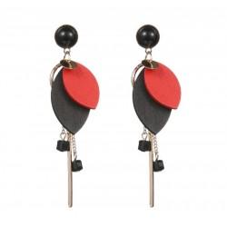 Boucles d'oreilles Hermès rouge
