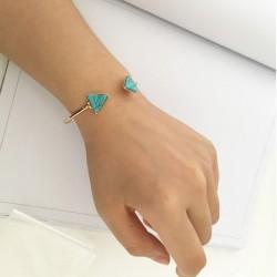 Bracelet Triangle bleu